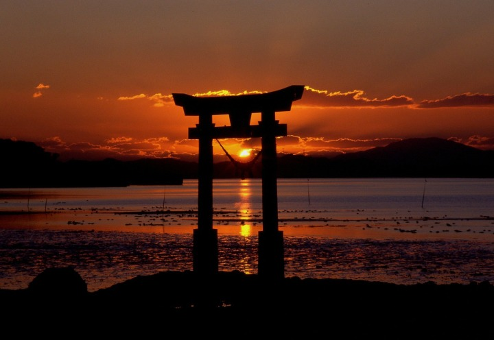 Sunset at Nagao Shrine, Japan
